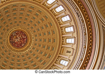 Capitol Rotunda - The ceiling of the rotunda in the...