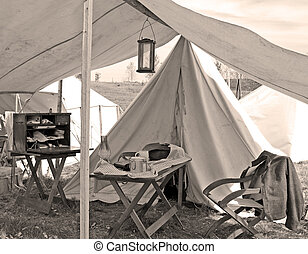 Doctors Camp - A doctors camp at a Civil War encampment...