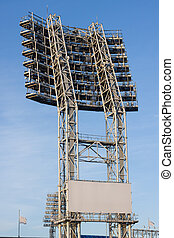 The stadium lights - construction of the stadium lighting in...