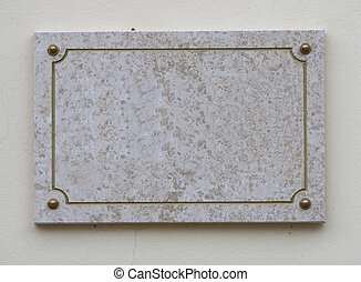Engraved stone frame for text or advertisement
