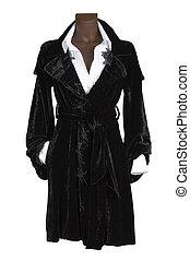 black velvet dress - Female black velvet dress and white...