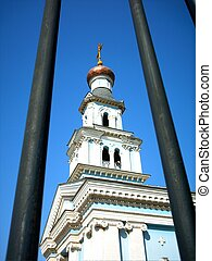 bell tower - Bell tower on yard of Tashkent Orthodox eparchy...
