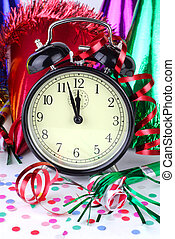 New Years Eve - Clock Counting Down To The New Year At A...