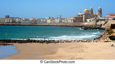 Shoreline of Cadiz - this shows the shoreline of Cadiz in...