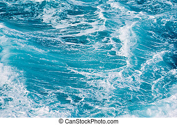 ocean waves - background image of turbulent waves in the sea