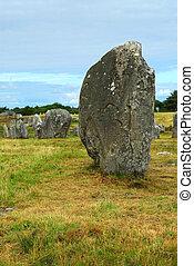 megalítico, monumentos, bretaña