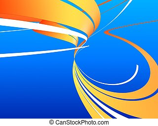 abstract art - 3d rendered illustration of an abstract shape...