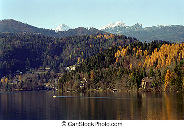 Lake Bled, Slovenia - Lake Bled in the town of Bled,...