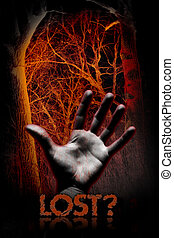 lost - Bloody hand, bloody forest....
