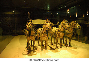 Bronze Chariots - Bronze chariots from Terracotta Army...