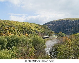 Water Gap - A picturesque view of the Delaware Water Gap...