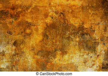Grunge Background - Background made with an old yellow wall