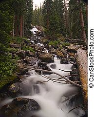 Calypso Cascades - Wild Basin Area, Rocky Mountain National...