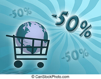 Discounts percentages illustration to represent discount...
