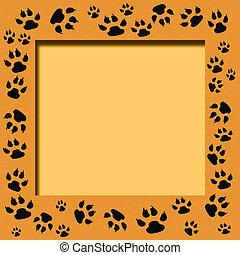 tiger track frame - tiger tracks frame scrapbook cutout page...