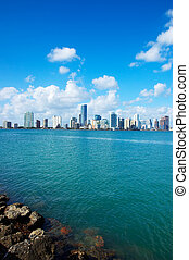 Miami Skyline - view from Key Biscayne