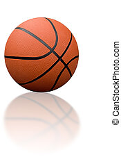 Basketball with reflection isolated over white