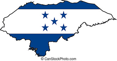 Map Honduras - Map and Flag from Honduras