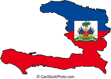 Map Haiti - Map and Flag from Haiti