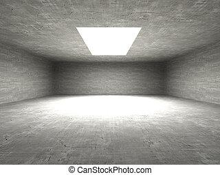 Bunker - 3D Illustration. Intentional overlightning.