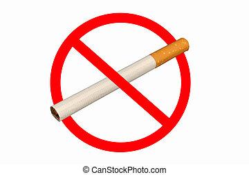 No Smoking on a white background