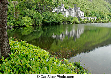 Kylemore Abbey Castle - View of the Kylemore Abbey Castle,...