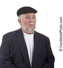Dapper Older Man - An older man dressed in black and white...