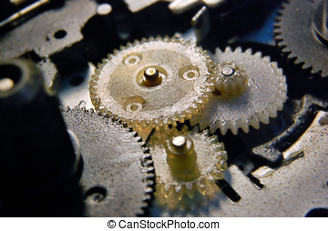 Plastic gears - Inside of tape-recorder