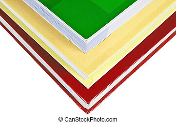 Books - Stack of colorful books isolated on white background