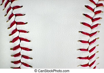Closeup of baseball stiches - Here is a photo of baseball...