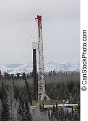 Drilling rig - Drillng rig working in the Alberta foothills