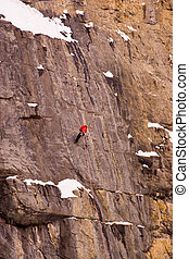 Rock climbers. - Shot in Banff National Park.