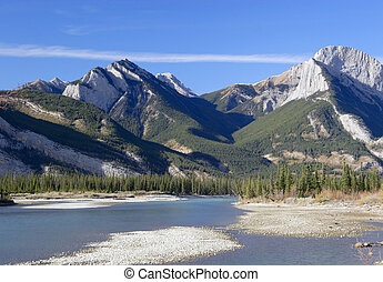 Athabasca River - In Jasper National Park, Alberta, Canada