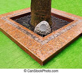 Landscape design. - Original registration of the tree...