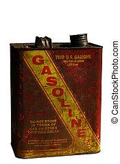 Vintage Gasoline can - Rusting vintage gasoline can,...