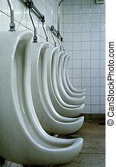 Mictorium - Profile detail of mens toilet - bathroom -...