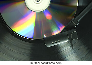 Record Player Needle - Cropped image shot directly from...