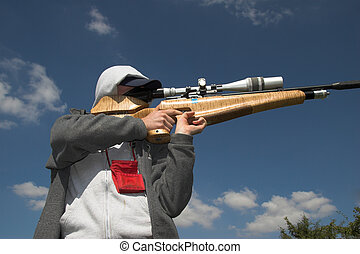 Shooting sport - Field target competitor