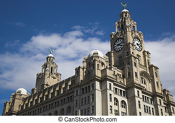 Liver Building in Liverpool UK