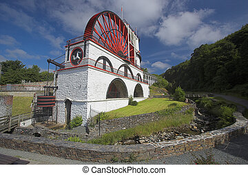 Laxey Waterwheel - Laxey water wheel in the Isle of Man