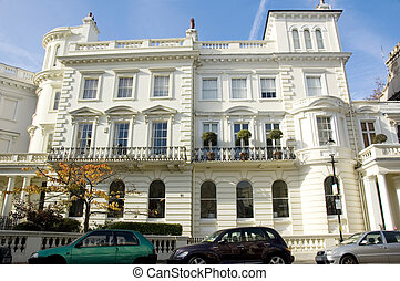 London Townhouses - Large London townhouses, typical...