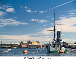 Aurora - Cruiser Aurora. Now docked for ever as a museum at...