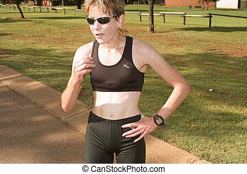 Female athlete.