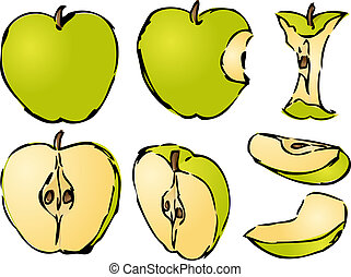 Apple illustration - Isometric 3d illustrtion of apples...