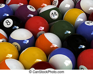 pool manifestation - close-up billiard balls View other...