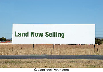 Land Sale - Large Roadside Billboard advising of land for...