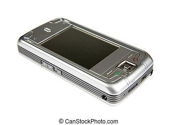 GPS smartphone - smartphone with GPS module - isolated on...
