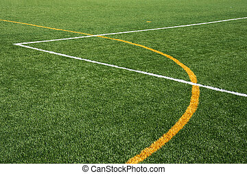 Artificial Turf Fiield - Artificial turf field, showing...