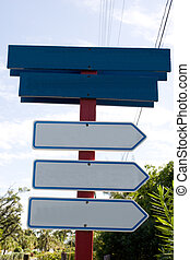 blank signs - direction signs with space for your own...