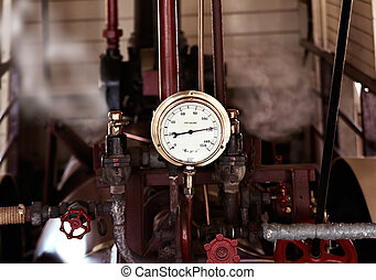 too much pressure - machinery under pressure gauge lets out...